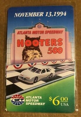 $6 Hooters 500, Atlanta Motor Speedway, November 13, 1994 Phone Card Collectible