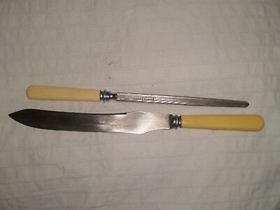 Joseph Rodgers carving knife and steel