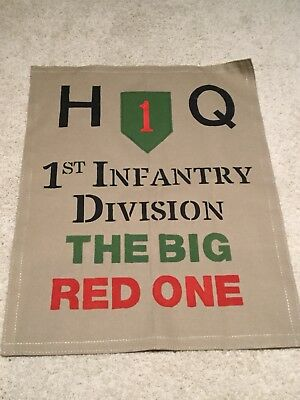 WWII Miltary Banner - 1st Infantry Division- Head Quarters