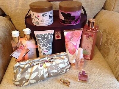 Gift set bundle TED BAKER vanity case clutch bag Bow ring mothers day