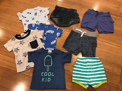 0-3 months 000 Baby Boy Summer Shorts & T-Shirts Bundle