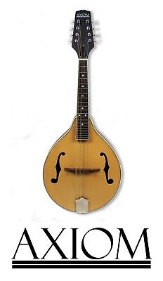 Axiom Mandolin F Style Solid Top Mandolin for Beginners and Pro Players 2 Year w