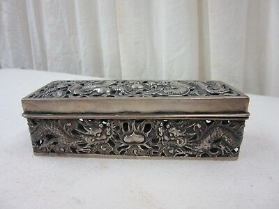Antique Chinese export silver box