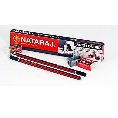 100x NATARAJ PICTURE WRITING PENCIL Superior Bonded Lead HB school home office