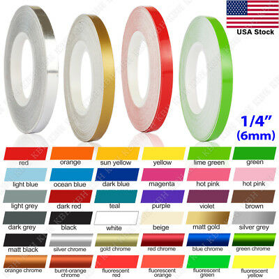 "1/4"" Roll Vinyl Pinstriping Pin Stripe Solid Line Car Tape Decal Stickers 6mm"