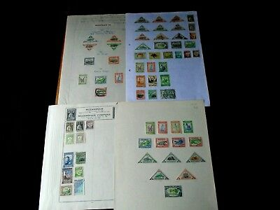 Mozambique & Mozambique Company Stamp Collection used & unused on 4 pages