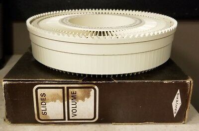 Sawyer's Rototray Rotary 100 Slide Tray 1964 w/ dust cover Empty