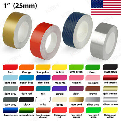 """6mm 1//4/"""" Pin Stripe Pinstriping Solid Line Tape Vinyl Decal Sticker Car Red"""