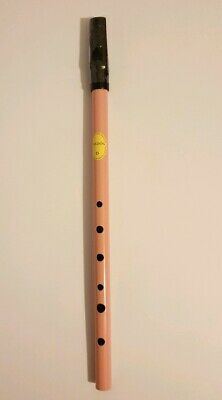 "Feadóg colour ""D"" whistle Pink FEADOG Original Irish Celtic music flute tin"
