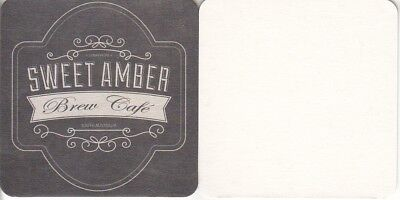 Sweet Amber Brewery Australian issued Square Beer Coaster - Beer Mat