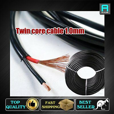1.0mm Electrical Cable Twin Core Wire 12V Automotive 4 X4 Dual Battery POWER 12M