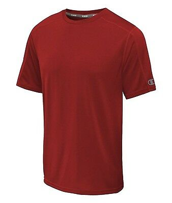 (2X Tall, Red) - Champion Big and Tall Vapour Crew Shirt. Delivery is Free