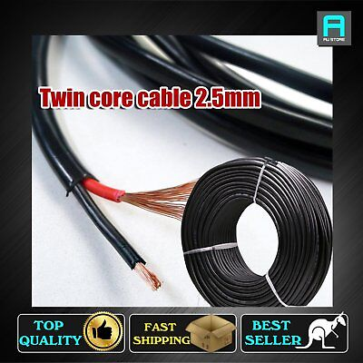2 Core Electrical Cable Twin Core 2.5mm Wire Copper Sheath Auto Solar Panels 12V