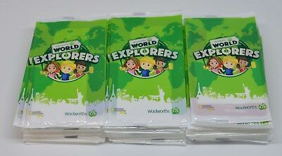 Bulk Lot Woolworths World Explorers Collectable Cards - 86 sealed packets