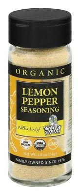 Celtic Sea Salt LEMON PEPPER Seasoning 62g Organic