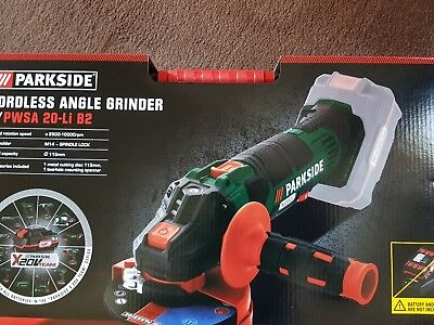 Cordless angle grinder (new) 20V Li-ion Ø115mm Battery & Charger .parkside.