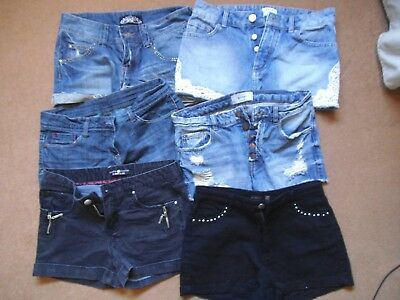 Lot of 6 pairs of womens DENIM SHORTS job lot