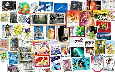 FINLAND - Selection of Stamps on Paper - All Different
