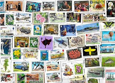 JERSEY - Selection of Stamps on Paper - All Different