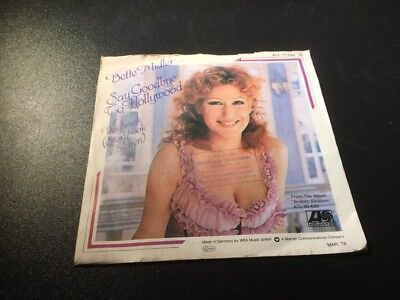 "Say Goodbye To Hollywood - Bette Midler - Single 7"" Vinyl 114/18"