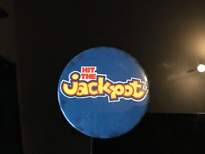 """Hit The Jackpot,   2"""" Button Pin Badge"""