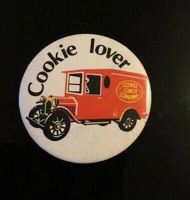 """COOKIE LOVER,   2"""" Button Pin Badge"""