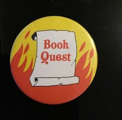 """BOOK QUEST,   2"""" Button Pin Badge"""