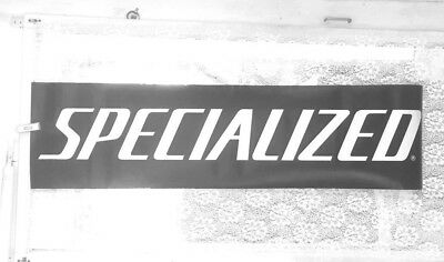 """Specialized Bicycle  Double Sided Vinyl Store Banner, 12 X 46"""", Great Condition"""