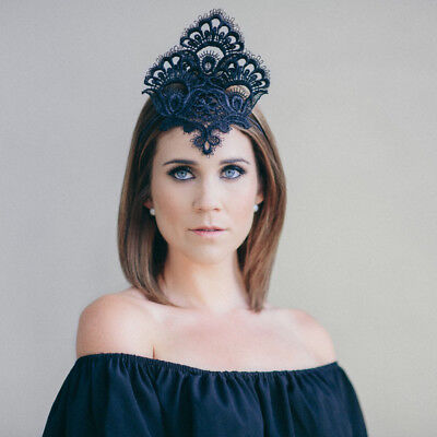 Lady of Leisure Millinery Amara Crown RRP $219 NEW WITH TAGS/BOX Black Headpiece