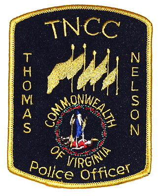 THOMAS NELSON COMMUNITY COLLEGE – TNCC - VIRGINIA VA CAMPUS Police Patch ~