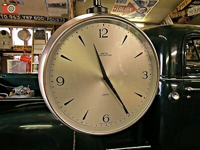 A Retro Smiths 2 Sided Hanging Clock, Great Condition. Ultra Rare. Gwo