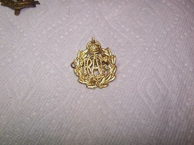 ROYAL CANADIAN AIR FORCE CAP BADGE-King George VI Crown-Excellent