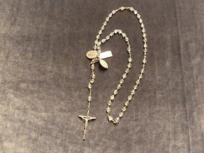 Vintage Nun's Rosary with Aurora Borealis Crystal Beads Jewelry