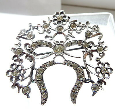 Antique Georgian Silver and Paste  Brooch Hallmarked