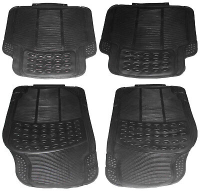 4 Piece Heavy Duty Front Rear Waterproof Black Rubber Avensis Car Floor Mats Set