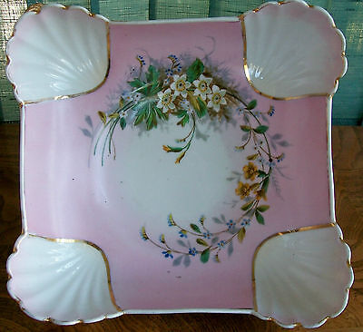 Antique porcelain Victorian centerpiece signed/numbered