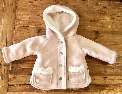 AS NEW Gorgeous Pale Pink PUMPKIN PATCH Warm Winter Coat - size 0-3 months / 000