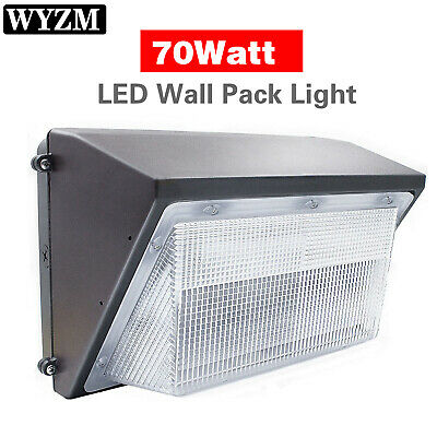 LED 70W Wall Pack Outdoor Light, 5000K Cool White, 7,700 Lumens IP65 Waterproof