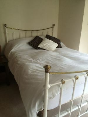 Wrought Iron and Brass Victorian/Edwardian Double Bedstead