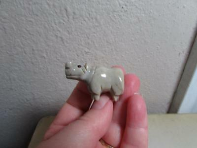 Hippopotamus, Hand carved Marble from the Andes. Chubby miniature Hippo Unique