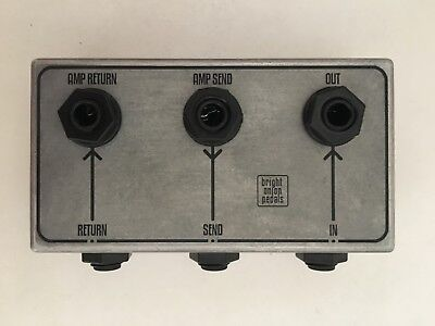 Bright Onion Pedals 3 in 3 out Patch Bay / Patchbox - Top and Side Sockets
