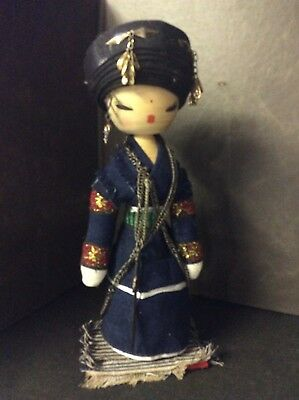 "Chinese Warrior 10""H Handmade Collectible Wooden Doll"
