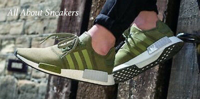b07f644e6 ADIDAS NMD R1 Olive Cargo Green Runner Boost Mens Trainers BB2790 ...
