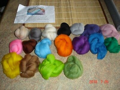 Wet Felting Yarns & Bamboo Mat