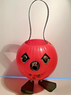 Vintage HALLOWEEN Blow Mold JOL w/Whistle in Nose + Feet - Works!  No damage!