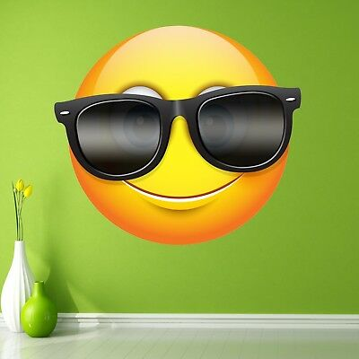 Emoji Sunglasses Smiley Face Character Wall Stickers Mural Decal Kids Room BN17
