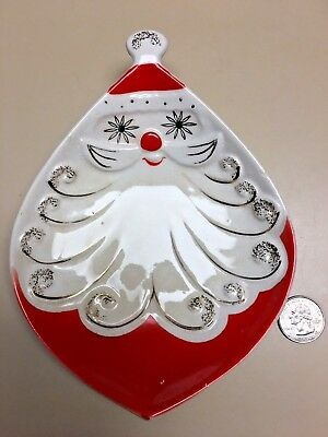Holt Howard Atomic Eyed Santa Medium Size Dish, Great Condition, Vhtf!!!!!!!!!!