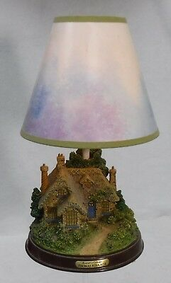 "THOMAS KINKADE company EVERETT'S COTTAGE Electric Lamp with Shade - 12"" +/-"