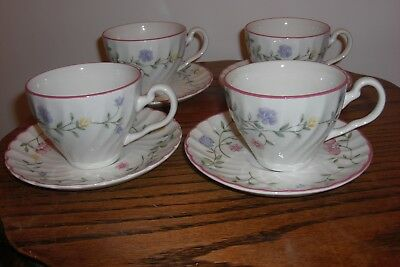 4xJohnson Brothers Summer Chintz tea cup and saucer