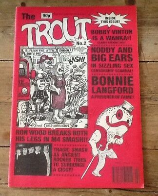 Genuine Original Very Rare Trout ( Like Viz ) Comic Excellent Condition No 2